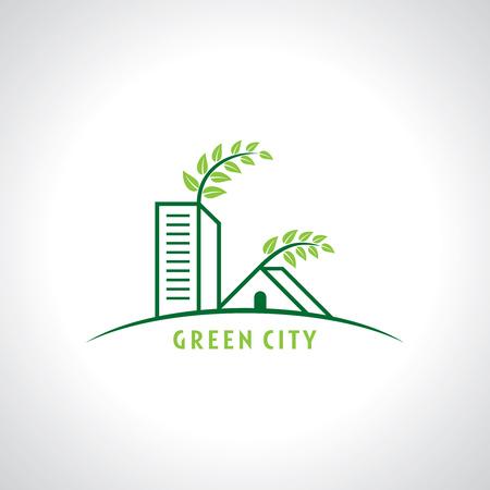 non    urban scene: real estate resort icon Illustration