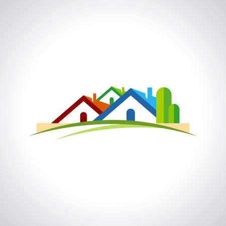 real estate resort icon Vector Illustration