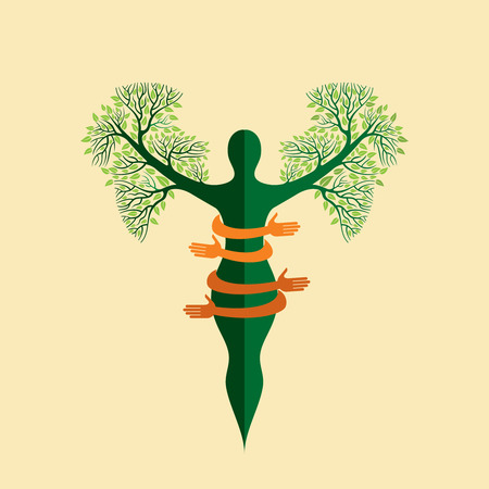 ayurveda: environmental care vector