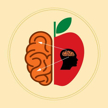 brain food: Idea concept illustration