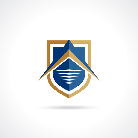 security safety: creative shield vector Illustration