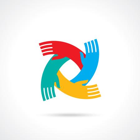 child care: teamwork idea illustration
