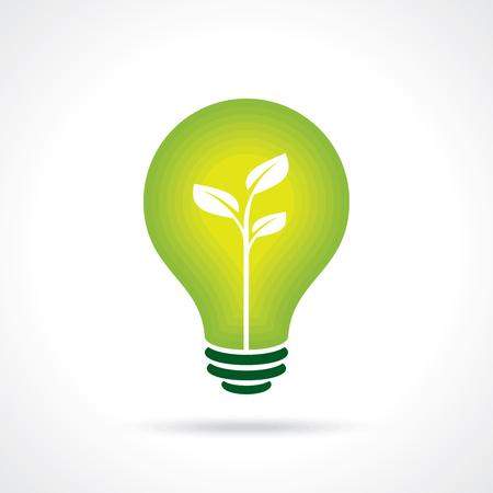 lighting equipment: Ecology bulb - Illustration