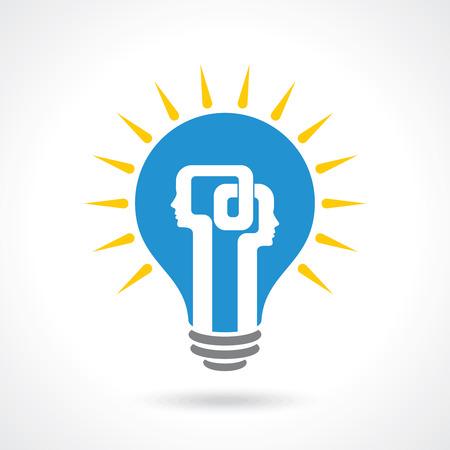 aspirations ideas: idea exchange concept - Illustration