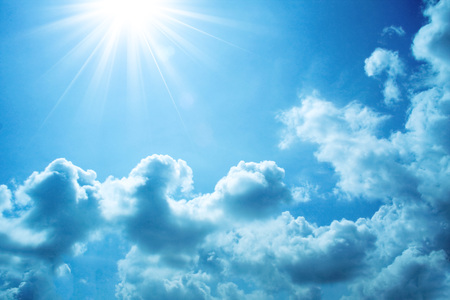 rainclouds: blue sky background with clouds