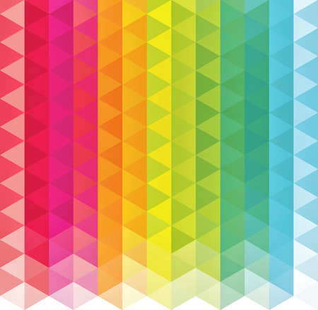 Background of geometric shapes. Colorful mosaic pattern. Retro triangle background Illustration
