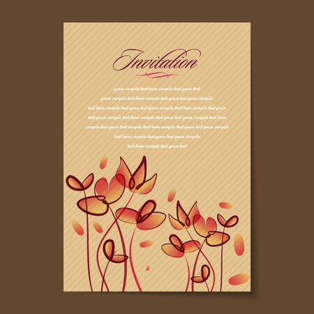 Belle carte di biglietti d'invito dell'annata Archivio Fotografico - 37152845