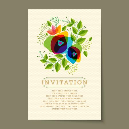 felicidades: Hermoso del vintage tarjetas de invitación diseños Vectores