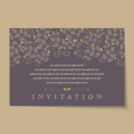 Hermoso del vintage tarjetas de invitación diseños Foto de archivo - 37152997