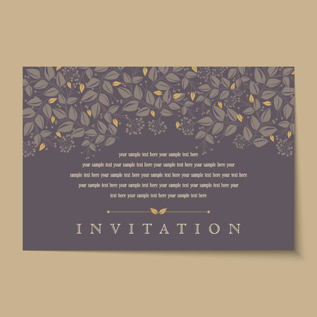 Beautiful vintage invitation cards layouts Illustration