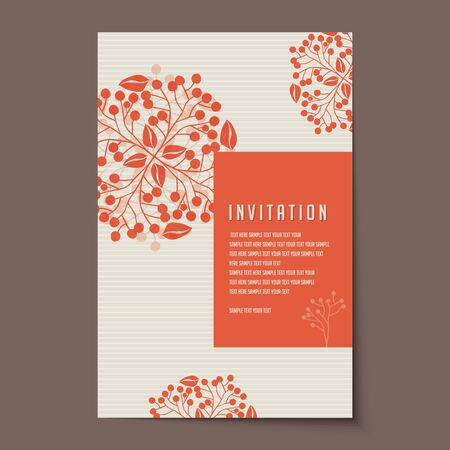 announcements: Invitation card design for wedding or announcements Illustration