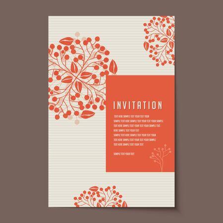 Invitation card design for wedding or announcements Иллюстрация