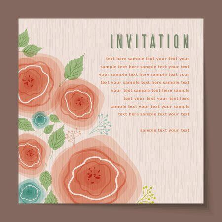 felicitaciones cumpleaÑos: eautiful vendimia tarjetas de invitación Layouts Vectores