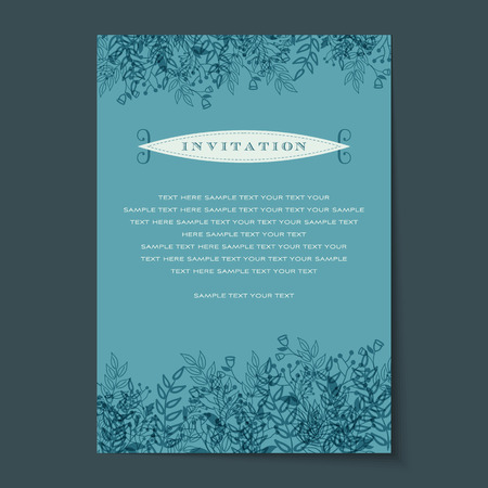 Beautiful vintage invitation cards Layouts Vector