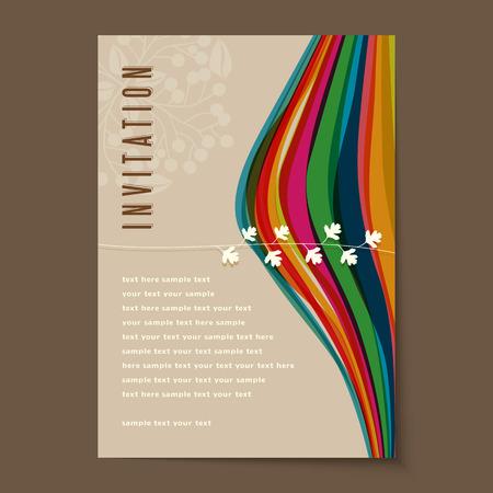 美しいビンテージの招待状カード レイアウト