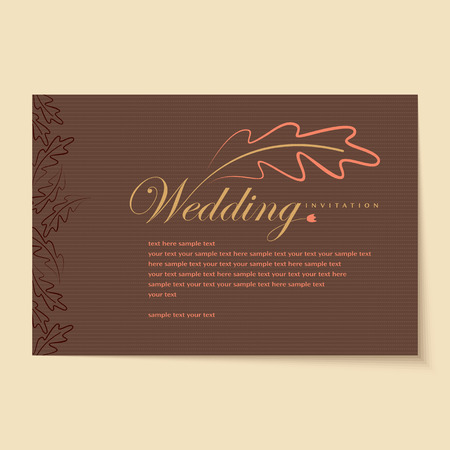 Beautiful vintage invitation cards Layouts Illustration
