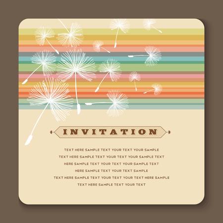 Beautiful vintage invitation cards layouts Иллюстрация