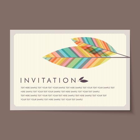 felicidades: Hermosas tarjetas de invitación de la vendimia diseños.
