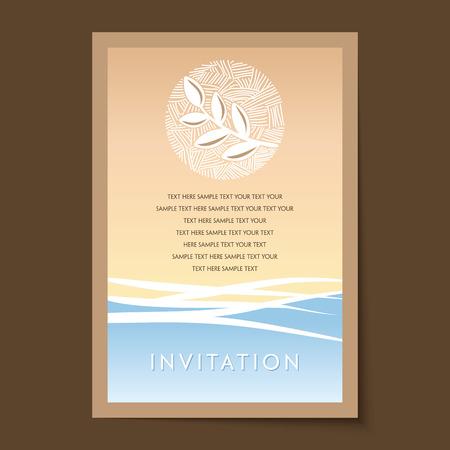 Invitation card design Vetores