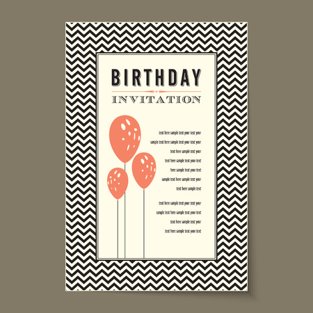 fayer: Vector - Birthday card with balloons