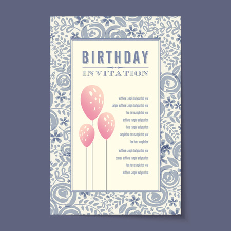 engagement party: Beautiful vintage invitation cards layouts.