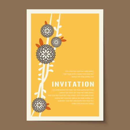 Beautiful vintage invitation cards layouts.