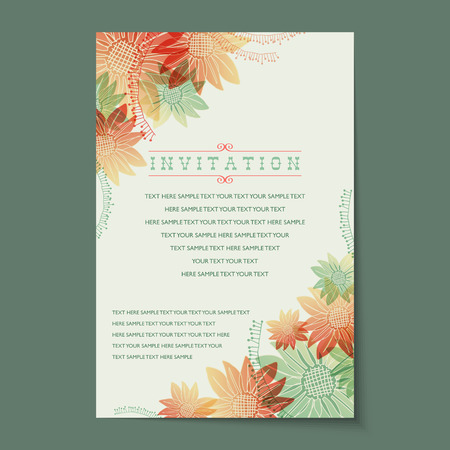 Beautiful vintage invitation cards layouts.