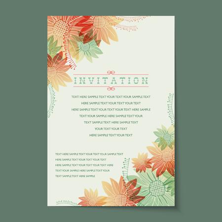 invitaci�n vintage: Hermosas tarjetas de invitaci�n de la vendimia dise�os.