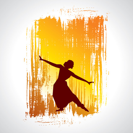 traditional dance: illustration of Indian classical dancer Illustration