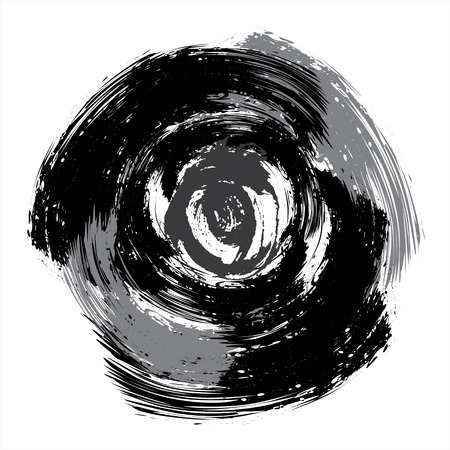 Grunge circles illustration Illustration