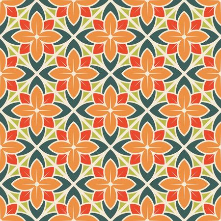 Seamless flower pattern. Vector illustration Vettoriali