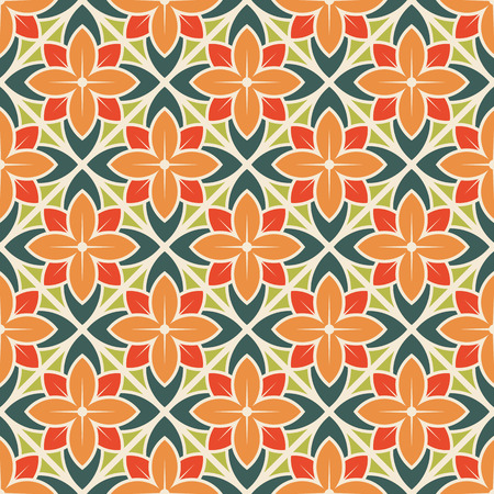 Seamless flower pattern. Vector illustration Çizim