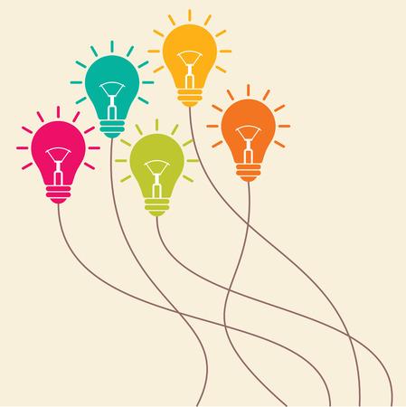 new idea: light bulbs idea illustration
