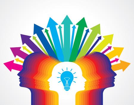 lluvia de ideas: el intercambio de idea concepto Vectores