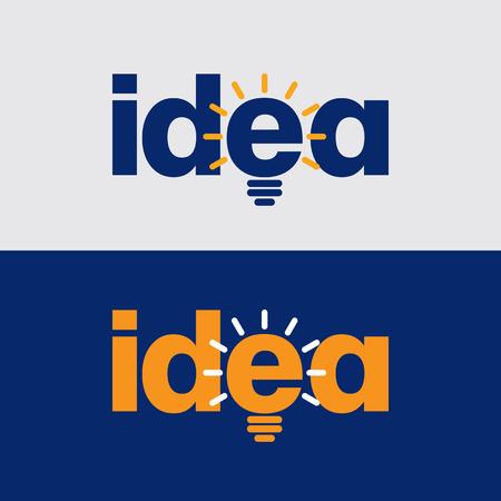 energy logo: light bulb the big idea concept Illustration