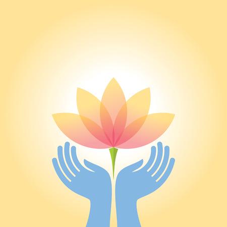 Schönheits- und Gesundheitssymbol mit eleganten Hand