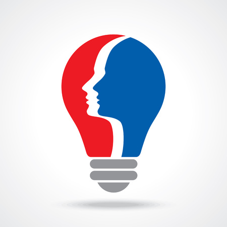 communication concept: human head thinking a new idea