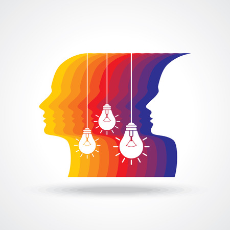new idea: human head thinking a new idea