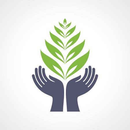 health care: eco care symbol