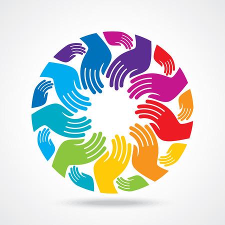 simbolo della pace: Mano icona Print illustrazione