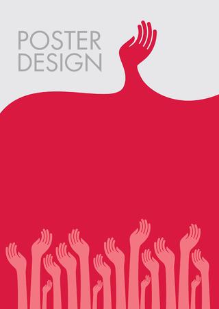 若者のポスターのデザイン