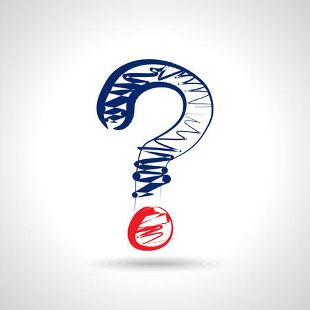 punto interrogativo: linea mark disegno domanda