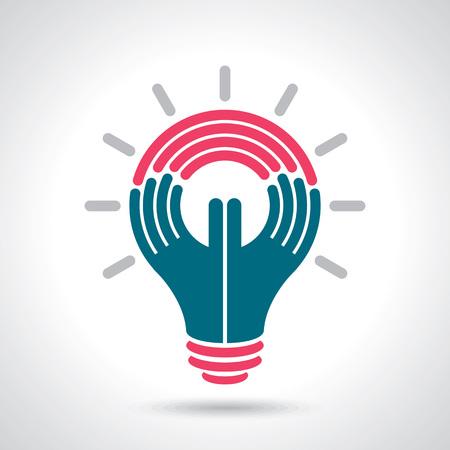 llegar a la idea con la mano humana
