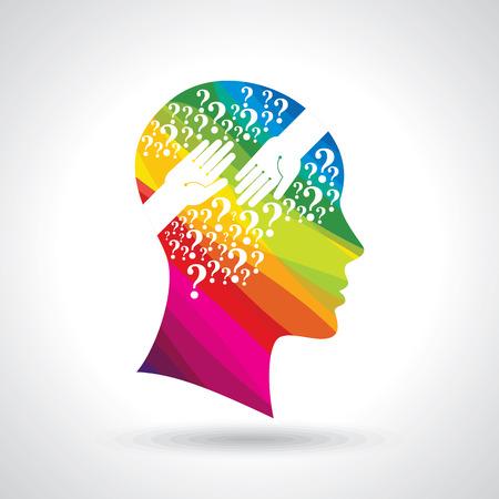 menselijk hoofd denken een nieuw idee Stock Illustratie