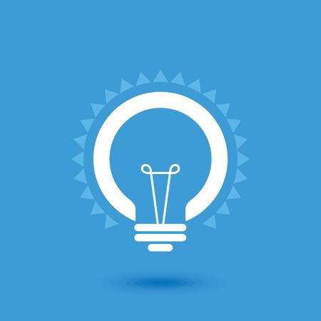 shiny icon: Creative idea in bulb shape as inspiration concept