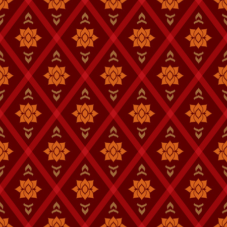 twill: abstract vintage geometric wallpaper pattern seamless background Illustration