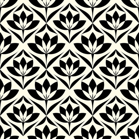 lotus leaf: Elegant stylish abstract floral wallpaper. Seamless pattern