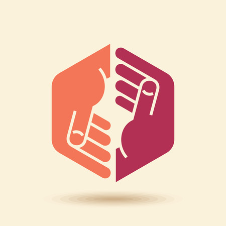 friends together: Vector Icon Teamwork concept Illustration
