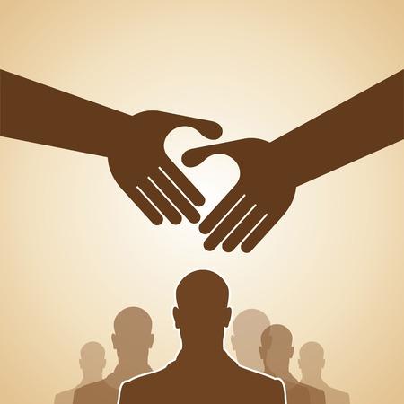 logo handshake: Handshake, Teamwork Hands Logo. Vector illustration. Illustration
