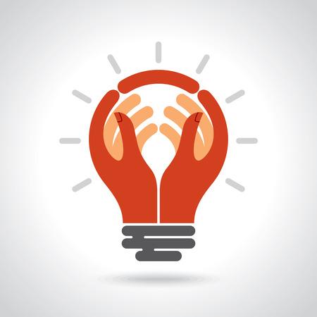 Reach idea with human hand Vettoriali
